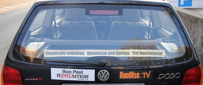 Chemtrails Autowerbung